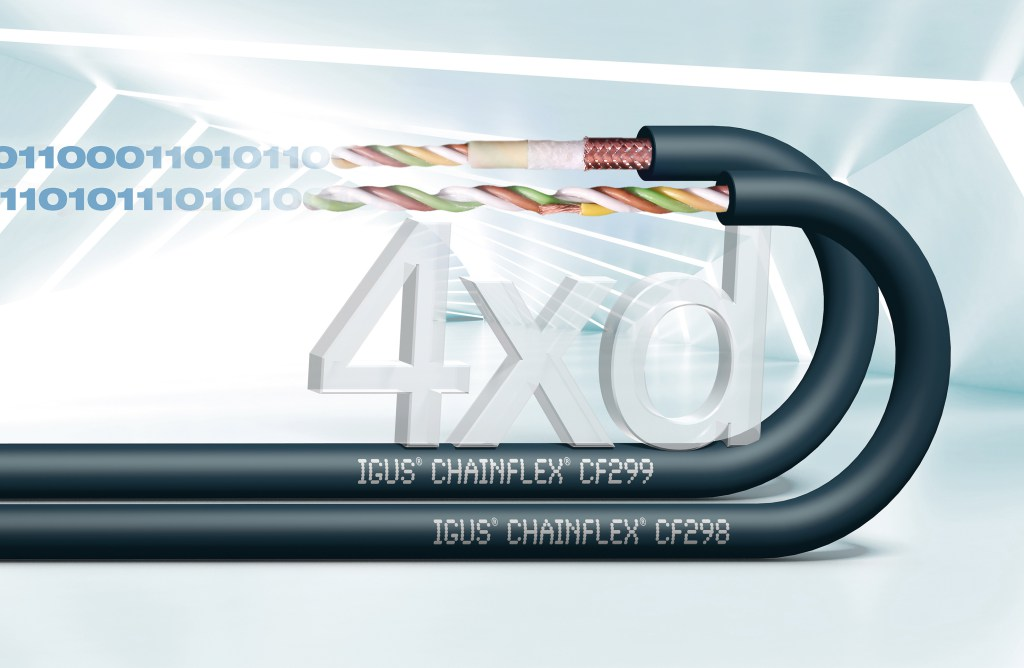 Data cables for the smallest bend radii in moving applications