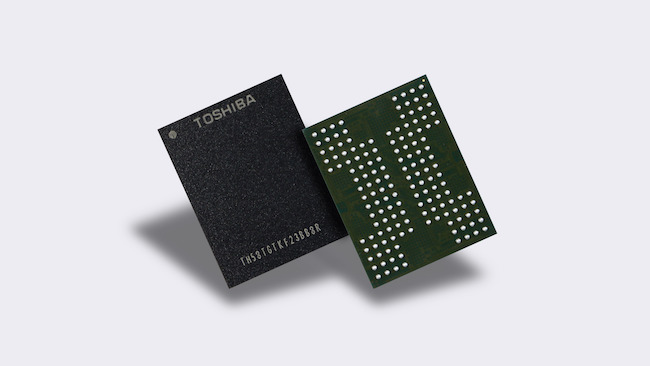 Toshiba Corporation developed the first 3D flash memory with the TSV technology in the world