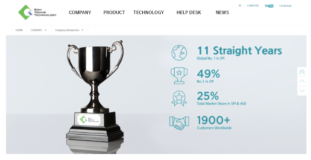 Koh Young Technology Launches New Interactive Website