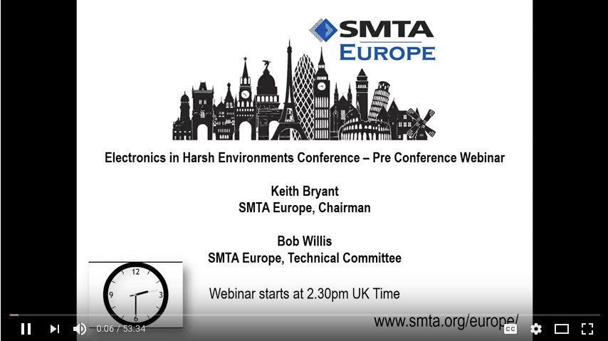 Electronics in Harsh Environments Conference  Program Finalized