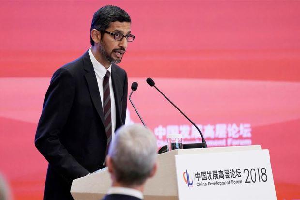 Google's Pichai sings China's praises in AI, pledges bigger team